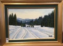 Raymonde AUBRY - Painting - Traces dans la neige
