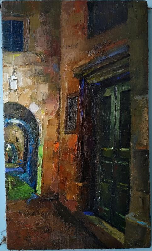Ohanyan KAMSAR - Pittura - Old door in Provance