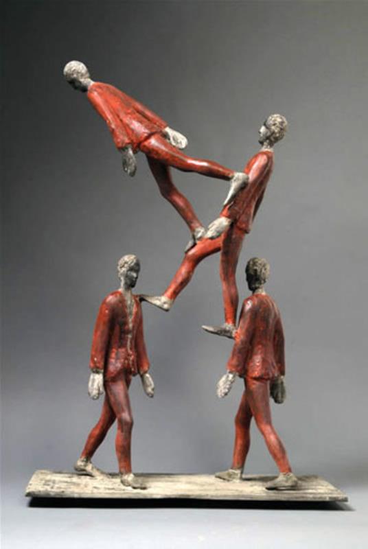 Roberto BARNI - Scultura Volume - Gambe in spalla
