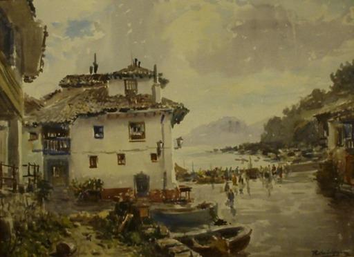 Vicente PASTOR CALPENA - Dessin-Aquarelle - Tazones (Asturias)