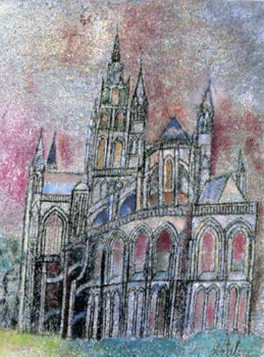 Franco GENTILINI - Peinture - Cattedrale di Notre Dame à Bayeux