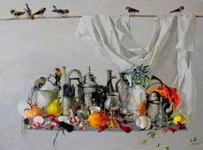 Tatjana PALCUKA - Painting - Still life with Pastel Pencils    (Cat N° 6095)