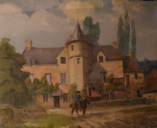 Georges CAPGRAS - Peinture - Château