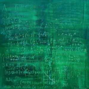 """Anastasia VASILYEVA - Gemälde - """"Schoolboard Nr.8"""" participant Art Basel Miami Week"""
