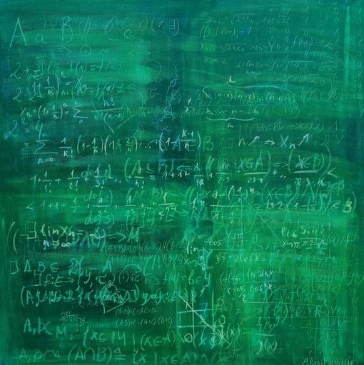 "Anastasia VASILYEVA - Pintura - ""Schoolboard Nr.8"" participant Art Basel Miami Week"