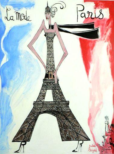 Richard BOIGEOL - Gemälde - La Mode Paris