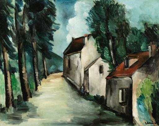 Maurice DE VLAMINCK - Gemälde - Rue de village