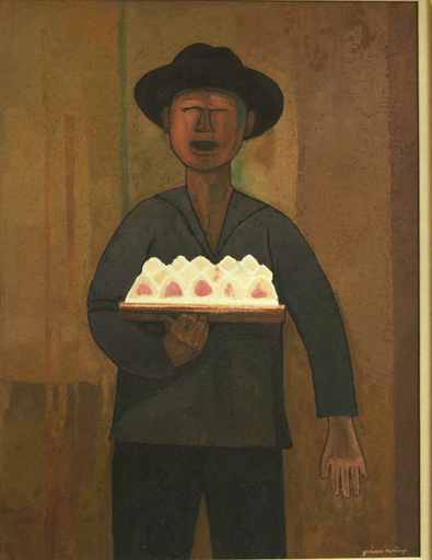 Gustavo MONTOYA - Pintura - Ice Cream Vendor