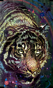 C215 - Painting - Tigre