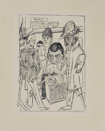 Max BECKMANN - Estampe-Multiple - Die Bettler