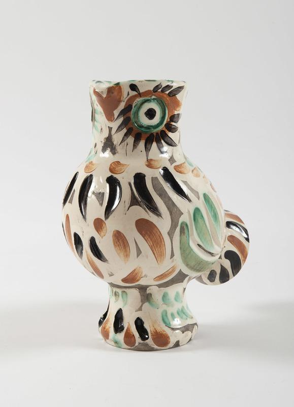 Pablo PICASSO - Ceramic - Wood-Owl, (A.R.602)