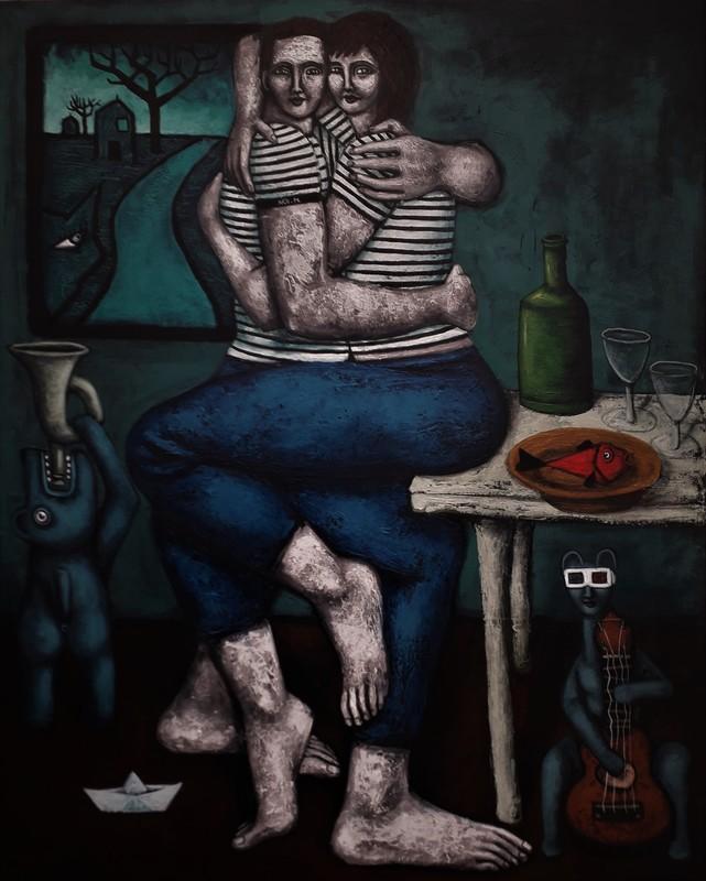 Nicolas MONJO - Painting - Avant que tout ne s'effondre