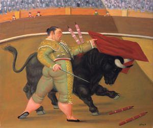 Fernando BOTERO - Peinture - Pase de pecho