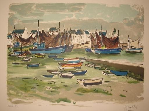 Robert HUMBLOT - Grabado - Port Breton,1960.