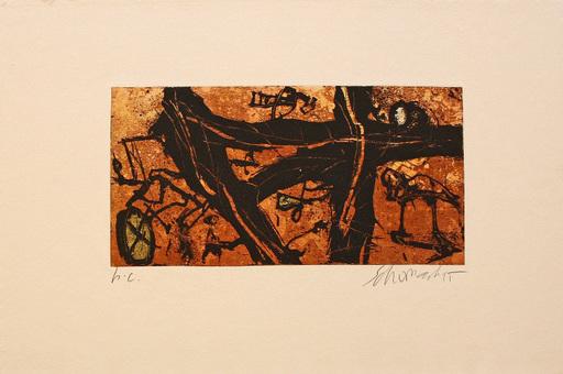 Emil SCHUMACHER - Estampe-Multiple - 8/1995