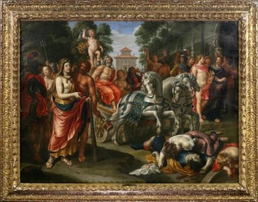 Peter VAN LINT - Pintura - Triumph von Jupiter und Cupido