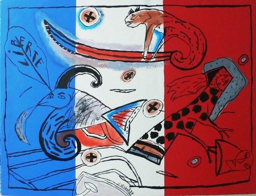 Véronique WIRBEL - Painting - Révolution   Bi-centenaire de 1989