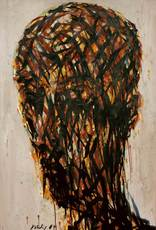 Max UHLIG - Painting - Jugendlicher Männerkopf T.