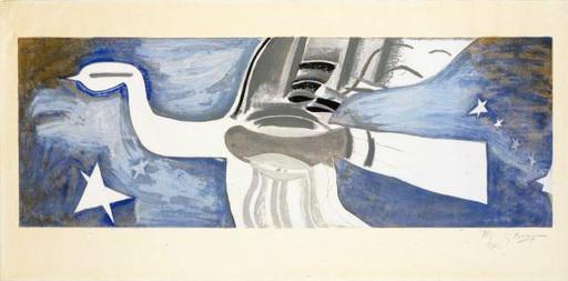 Georges BRAQUE - Estampe-Multiple - Grand oiseau bleu