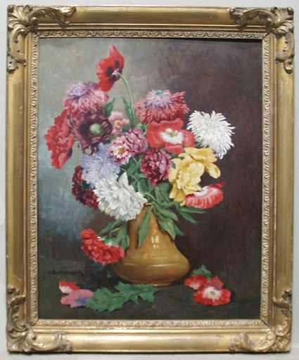 "Maximilian SPILHACZEK - Peinture - ""Flowers in Vase"" by Maximilian Spilhaczek"