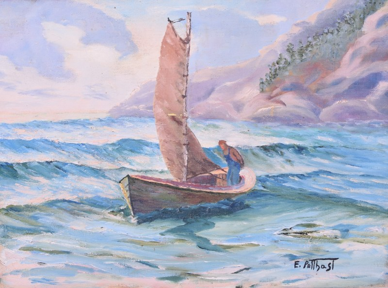 Edward Henry POTTHAST - Painting - Fisherman.