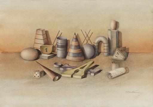 Maria MESTEROU - Drawing-Watercolor - Nature morte au dé