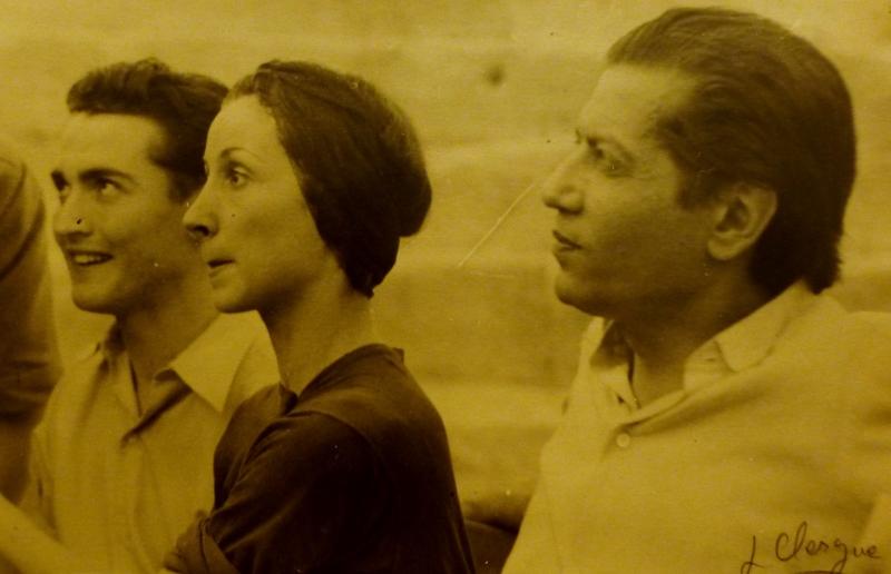 Lucien CLERGUE - Fotografia - Serge Lifar et Jeanine Charrat à Arles