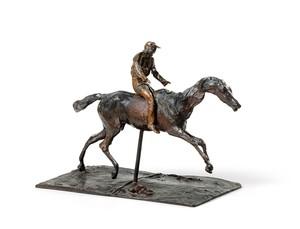 Edgar DEGAS - Sculpture-Volume - Cheval au galop sur le pied droit, le pied gauche arrière se