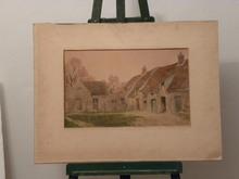 René Georges GAUTIER (1887-1969) -  une cour de ferme