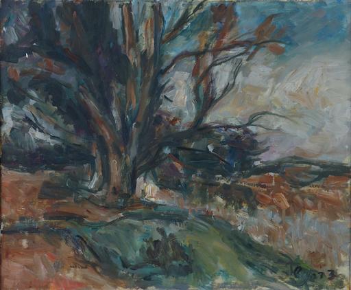 Zvi SHOR - Gemälde - Landscape Near The Yarkon