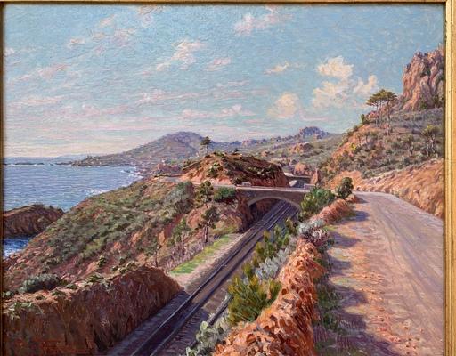 Piero FOCARDI - Pittura - La corniche d'Or, entre Trayas et Anthéor