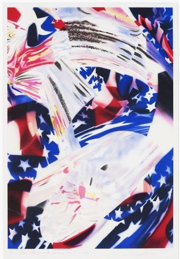 James ROSENQUIST - Grabado - Stars and Stripes at the Speed of Light