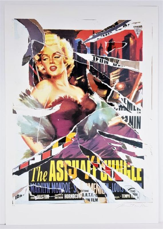 Mimmo ROTELLA - Stampa-Multiplo - The Asphalt Jungle