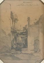 Alberto PASINI - Drawing-Watercolor - Rovine dell'Antica Laodicea