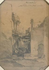 Alberto PASINI - Zeichnung Aquarell - Rovine dell'Antica Laodicea, Latakia