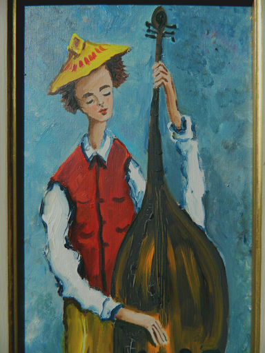 Claude TABET - Pintura - MUSICIEN