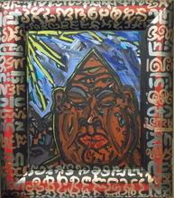 Robert COMBAS (1957) - Portrait Homme de face