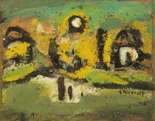 Georges ROUAULT - Pintura - Paysage animé