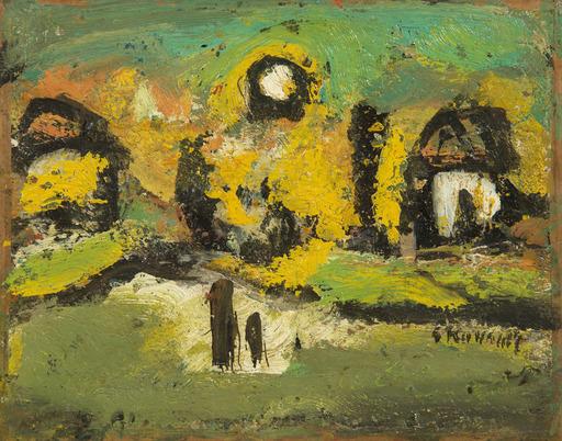 Georges ROUAULT - Peinture - Paysage animé