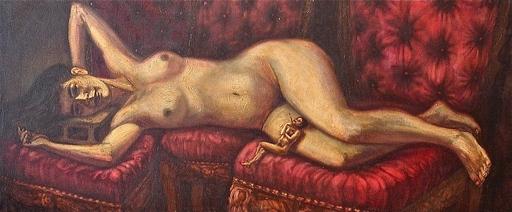 Victor HUERTA BATISTA - Pintura - Las musas del tiempo y razon