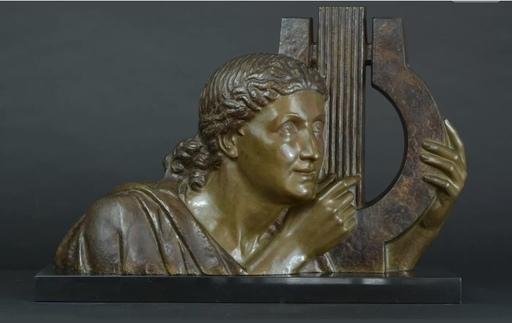 Émile Louis BRACQUEMOND - Escultura - Joueuse de Lyre