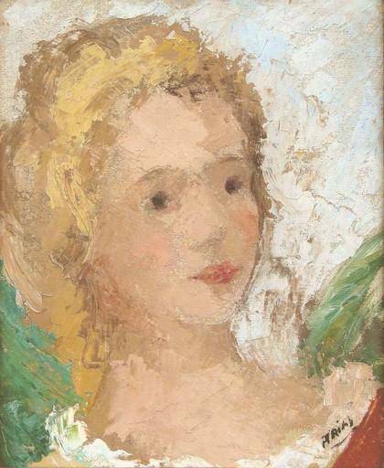 Francisco ARIAS - Painting - Cabeza Femenina