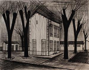 Bernard BUFFET - Print-Multiple - L'école
