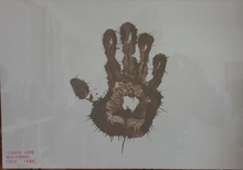 Richard LONG - Drawing-Watercolor - mud finger piece