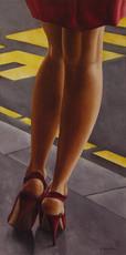 Annick BOUVATTIER - Pintura - Bus stop