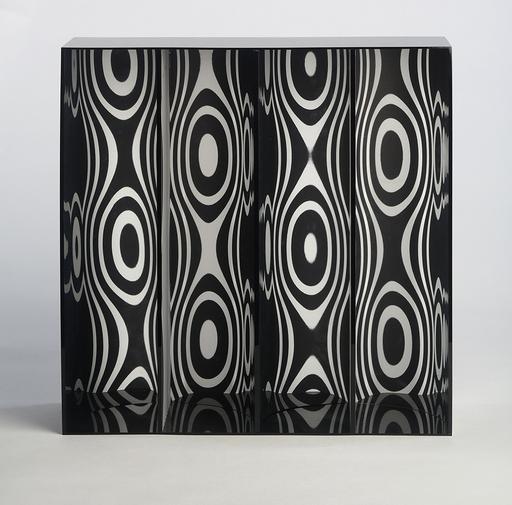 Julio LE PARC - Sculpture-Volume - Ondes par déplacement du spectateur