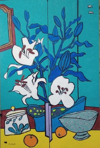 Harry BARTLETT FENNEY - Pittura - still life avec lily