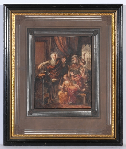 """Disegno Acquarello - """"King Lear"""" Watercolor, Old Russian Collection, ca 1800"""