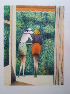 Jean-Pierre CASSIGNEUL - Print-Multiple - LES DEUX AMIES 1973