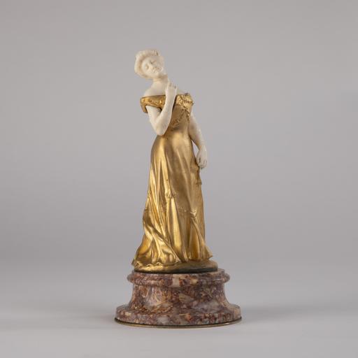 Louis Armand BARDERY - Sculpture-Volume - Louis Armand Bardery (1879-1952), Jeune élégante, XIXe